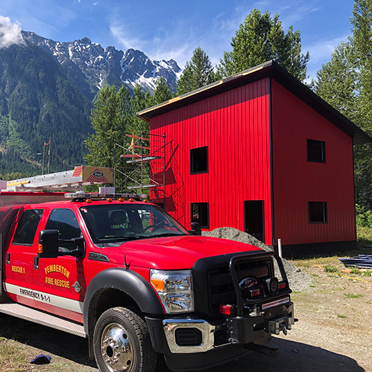 Pemberton Firefighters Association 2020 Cold Smoke Building Upgrade